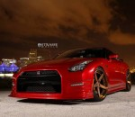 2015 Nissan GT-R on Bronze Strasse Wheels Photo