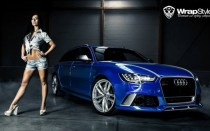 Универсал Audi RS6 в синем виниле от WrapStyle