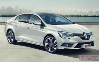Французы представили новую модель Renault Megan в кузове седан