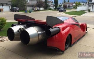 Житель Канады продал Корвет, чтобы для Ferrari купить реактивные движки