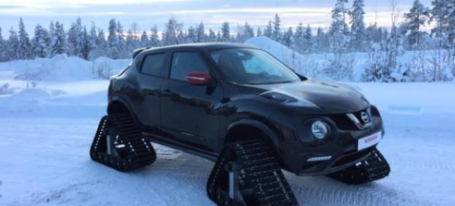Компания Nissan оснастила кроссовер Juke RS гусеницами