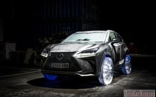 Модель кроссовера NX от Lexus на ледяных колесах