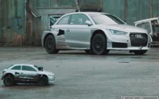 Поединок Audi S1 600 с радиоуправляемой копией болида!