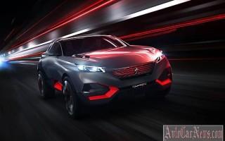 Новый кроссовер Peugeot Quartz Concept 2015 мод. года